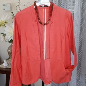 Maurice's open front notch collar jacket size L